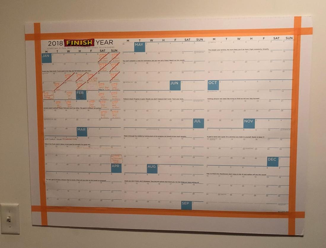 finish calendar
